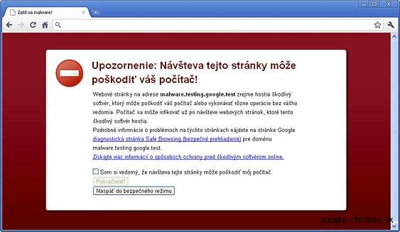 Google Chrome a zabezpečenie prehliadača